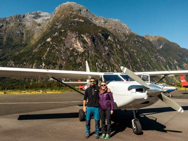southern alps air milford sound flight with landing