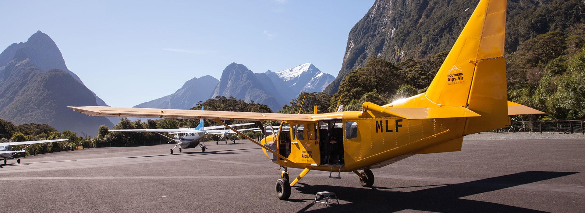 Milford Sound Flight + Landing & Glaciers $349pp (was $515)